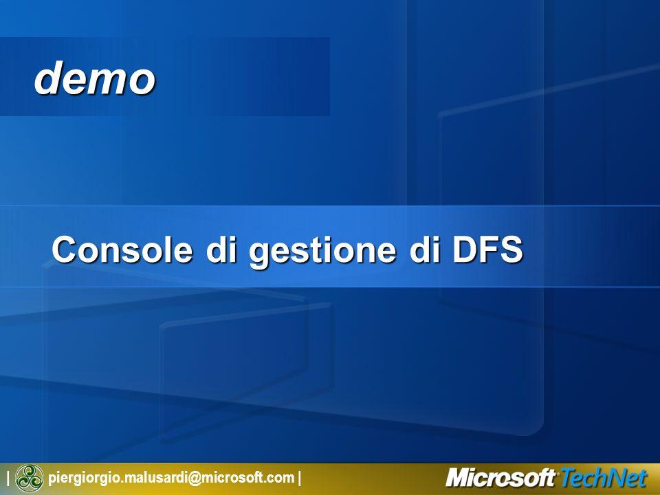 Console di gestione di DFS