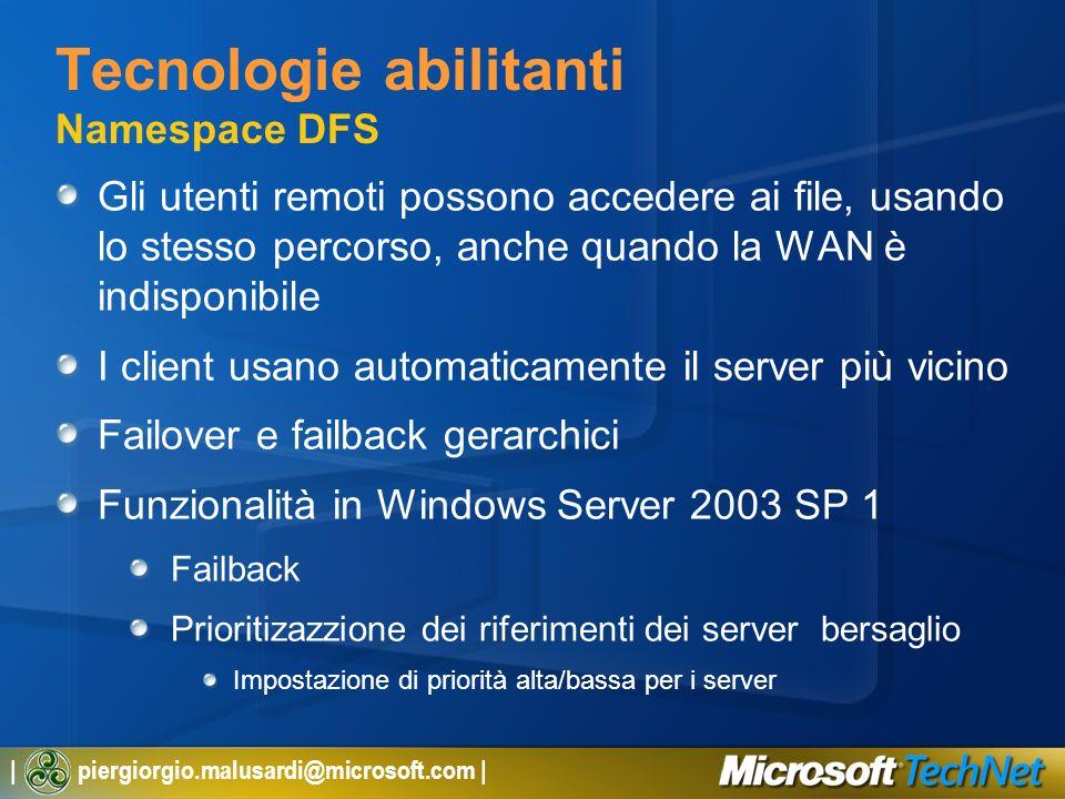 Tecnologie abilitanti Namespace DFS