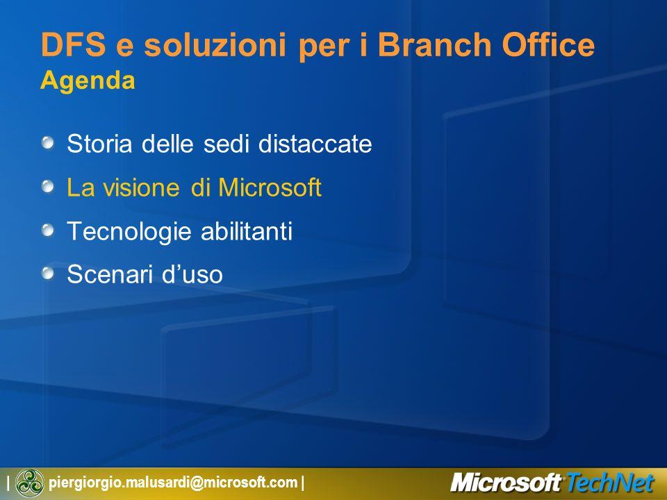 DFS e soluzioni per i Branch Office Agenda