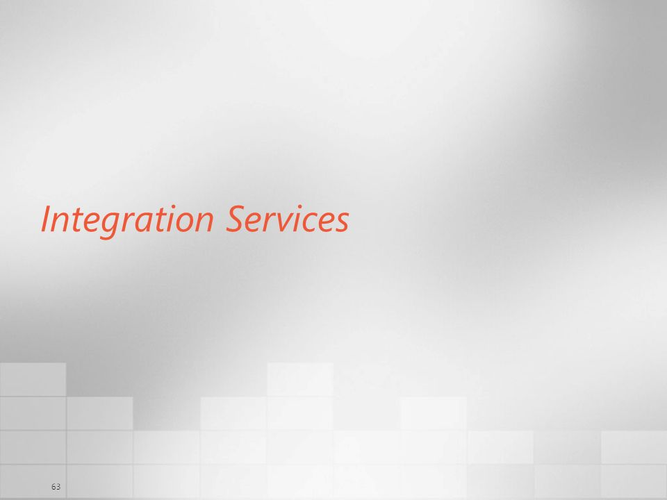 Integration Services 3/29/2017 6:35 AM