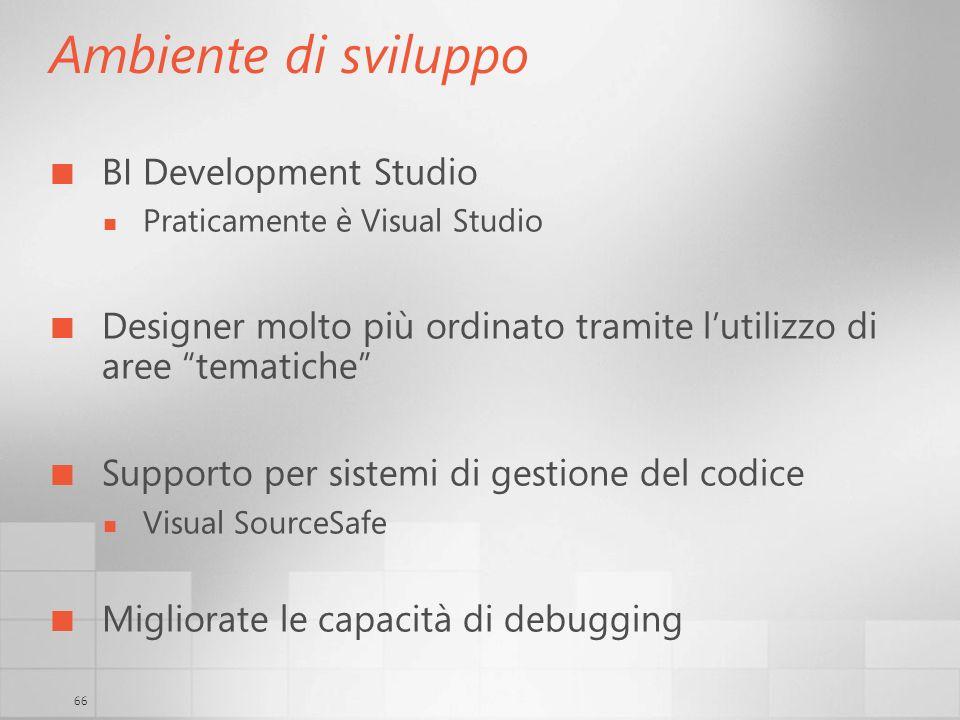Ambiente di sviluppo BI Development Studio