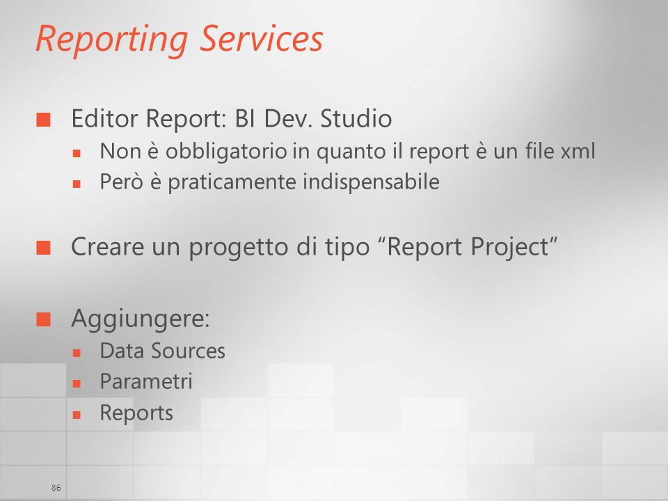 Reporting Services Editor Report: BI Dev. Studio