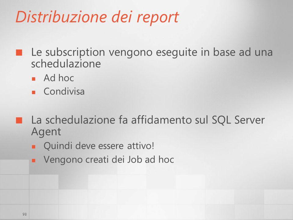 Distribuzione dei report