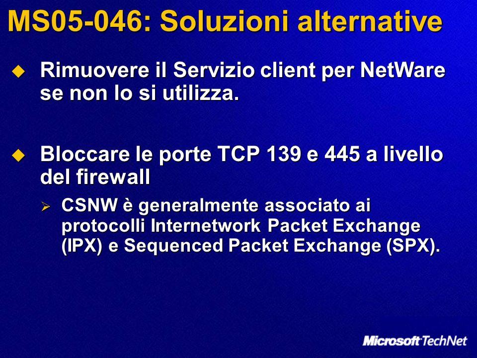 MS05-046: Soluzioni alternative