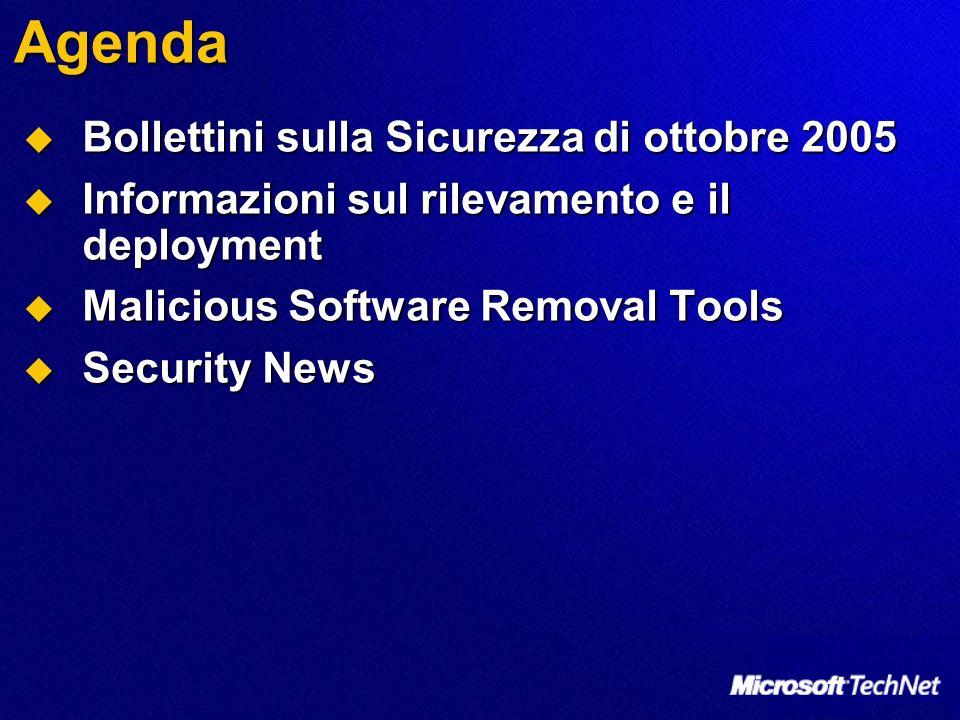 Agenda Bollettini sulla Sicurezza di ottobre 2005