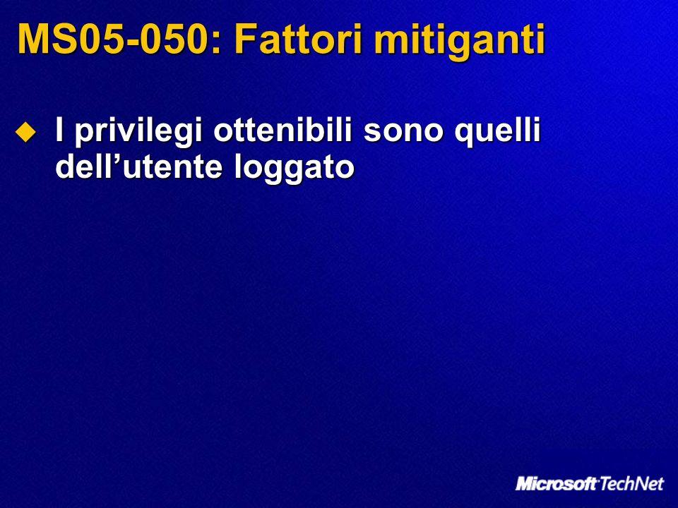 MS05-050: Fattori mitiganti