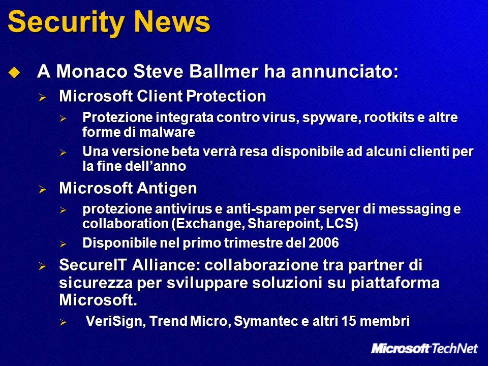 Security News A Monaco Steve Ballmer ha annunciato: