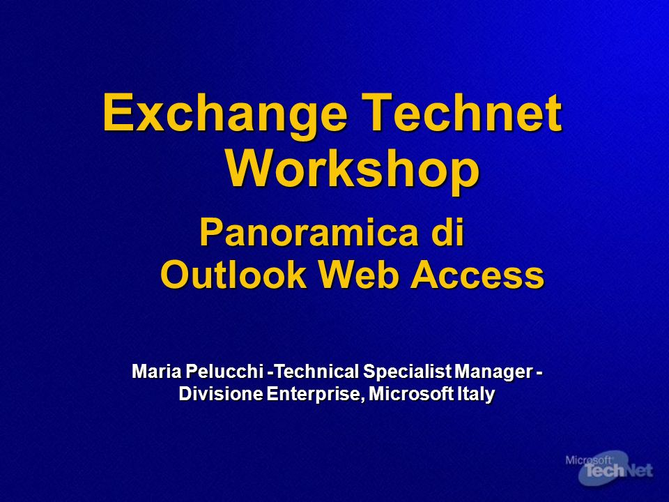 Exchange Technet Workshop