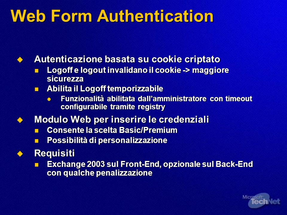 Web Form Authentication