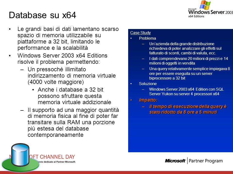 Database su x64