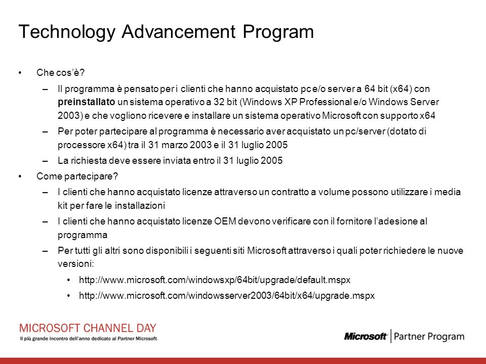 Technology Advancement Program