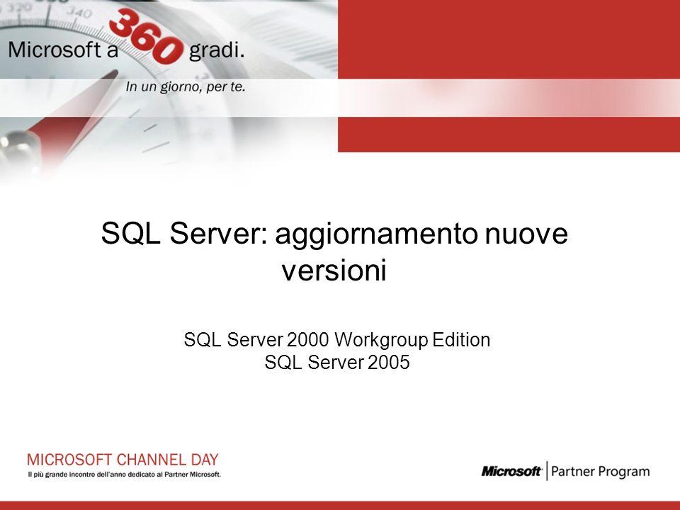 SQL Server: aggiornamento nuove versioni