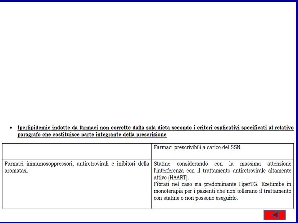 > 5,6 mmol/M > 3,3 mmol/M Atorvastatina