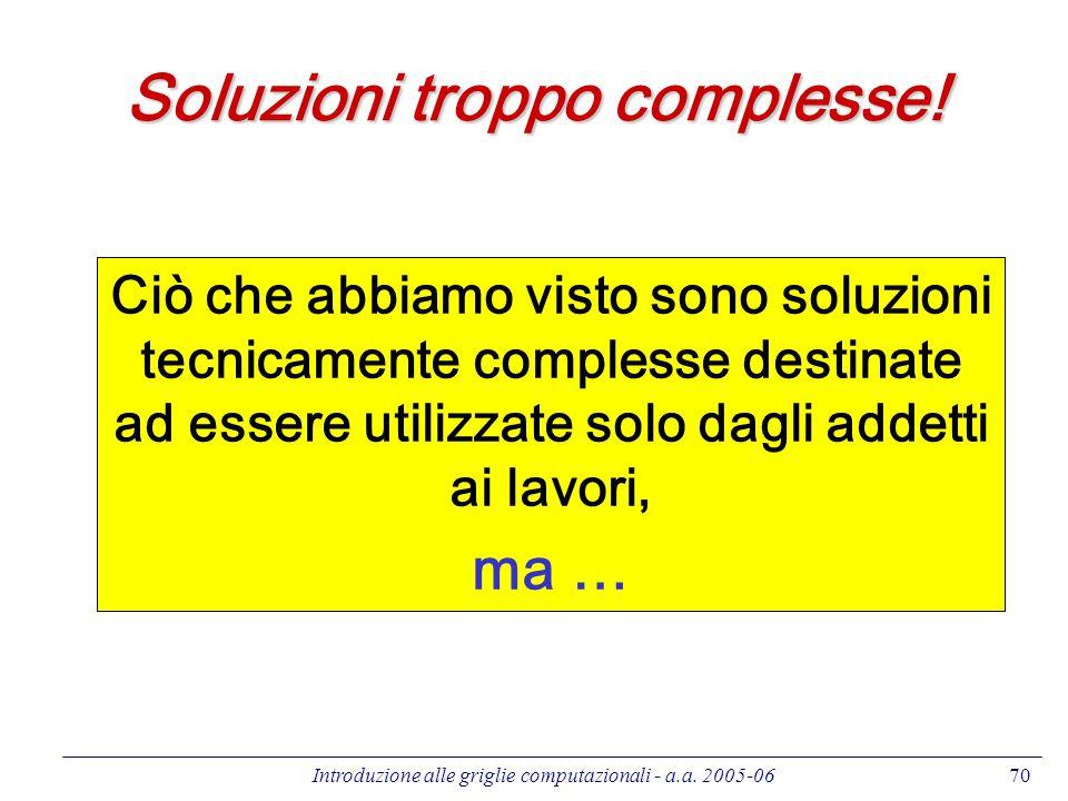 Soluzioni troppo complesse!