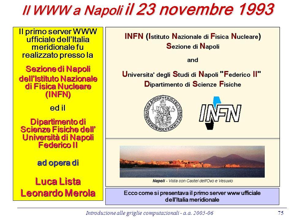 Il WWW a Napoli il 23 novembre 1993