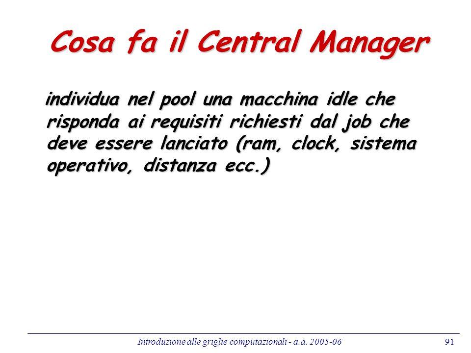 Cosa fa il Central Manager