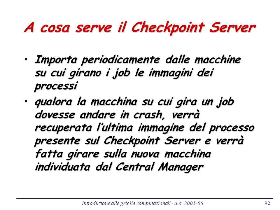 A cosa serve il Checkpoint Server