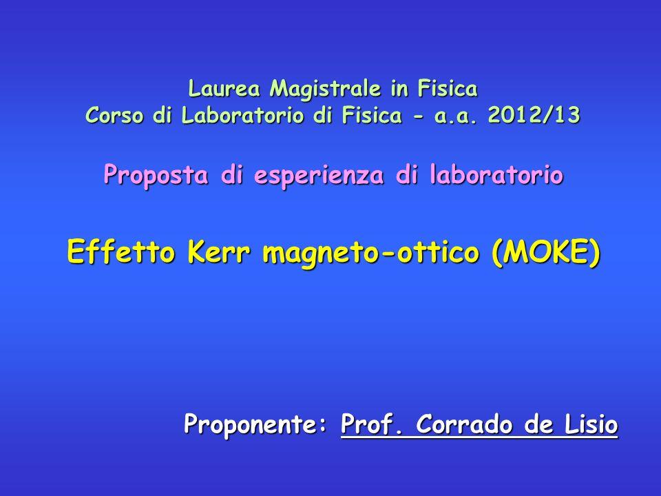 Effetto Kerr magneto-ottico (MOKE)