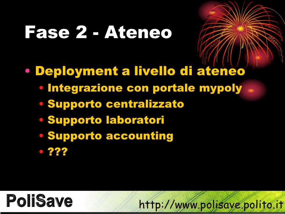 Fase 2 - Ateneo Deployment a livello di ateneo
