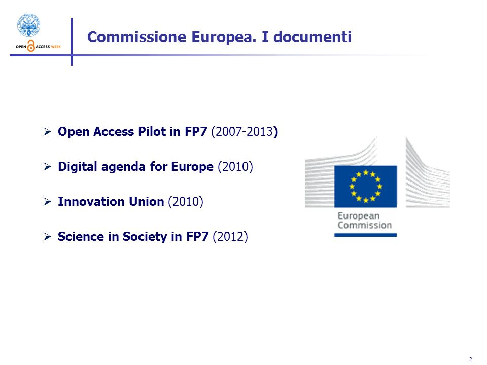 Commissione Europea. I documenti