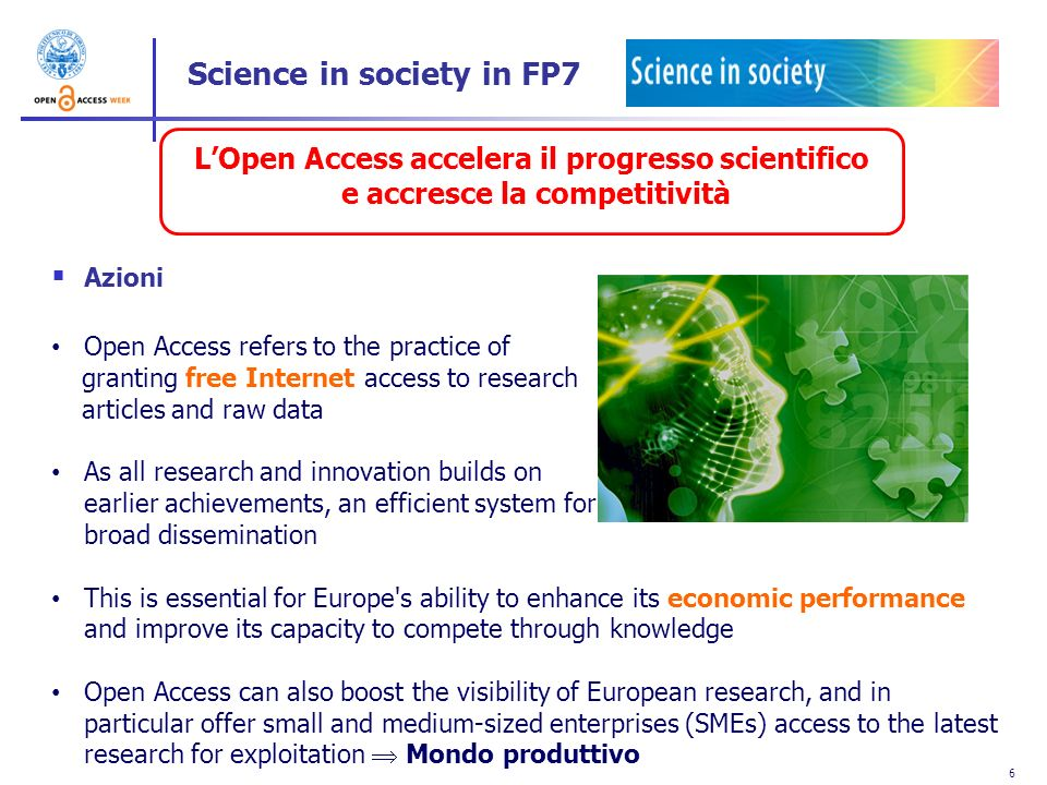 Science in society in FP7