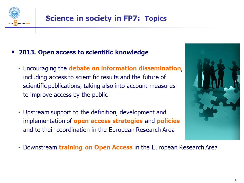 Science in society in FP7: Topics