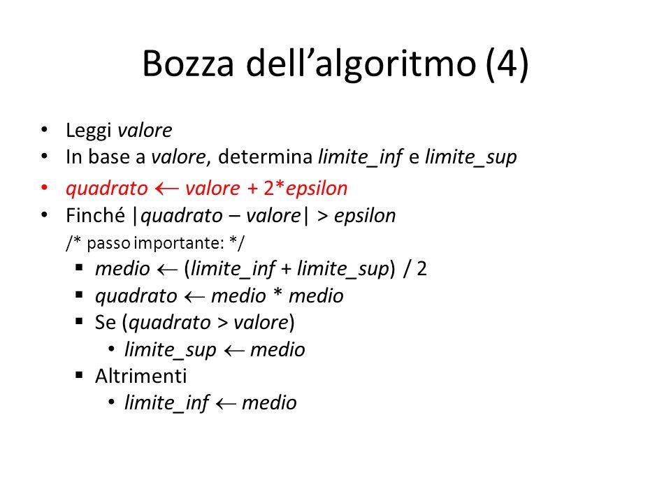 Bozza dell'algoritmo (4)