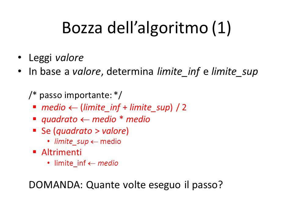 Bozza dell'algoritmo (1)
