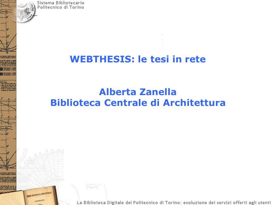 WEBTHESIS: le tesi in rete