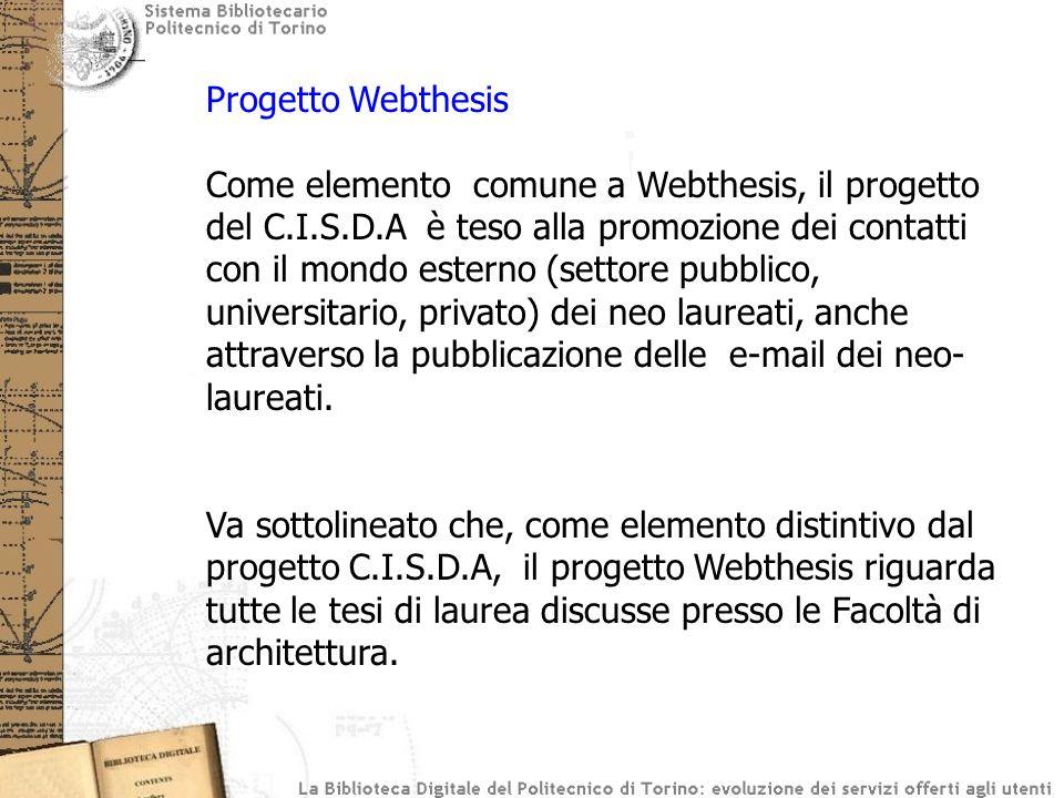 Progetto Webthesis