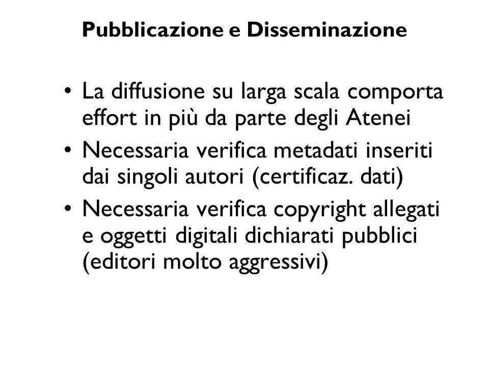 Pubblicazione e Disseminazione