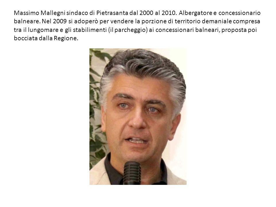 Massimo Mallegni sindaco di Pietrasanta dal 2000 al 2010