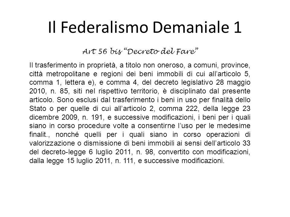 Il Federalismo Demaniale 1