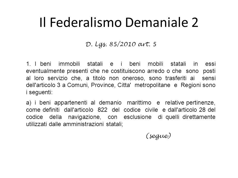 Il Federalismo Demaniale 2