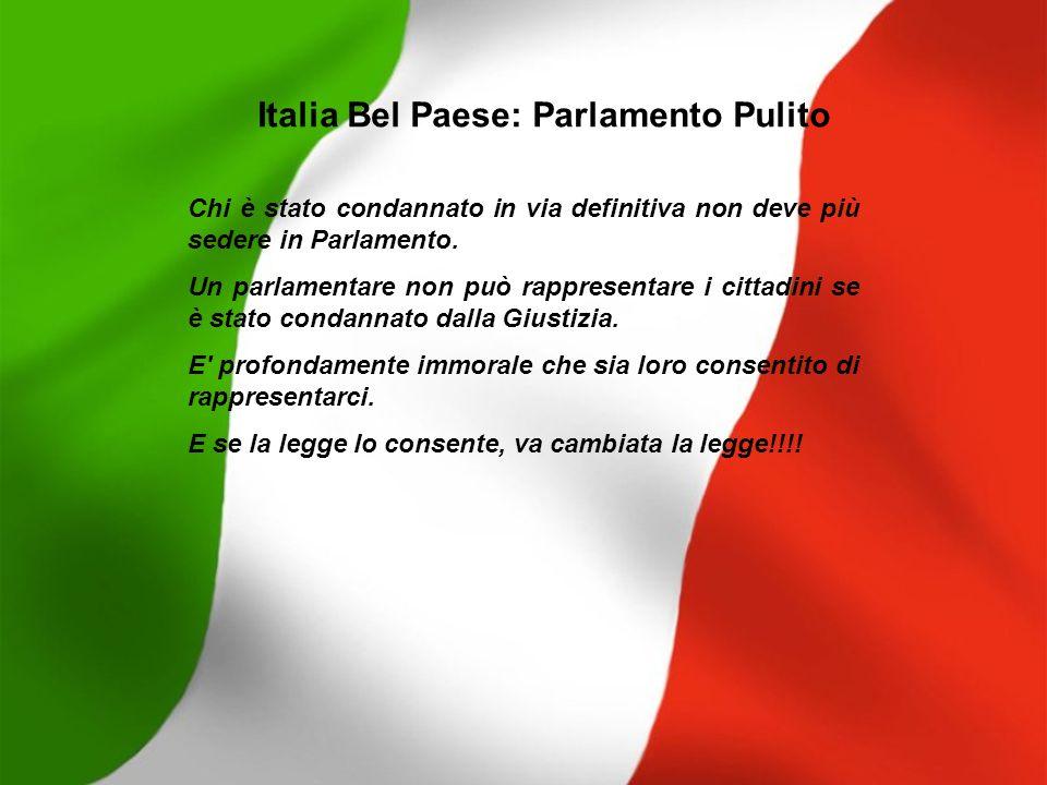 Italia Bel Paese: Parlamento Pulito