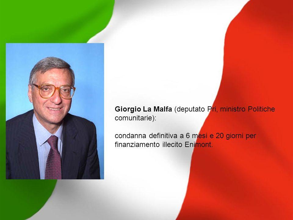 Giorgio La Malfa (deputato Pri, ministro Politiche comunitarie):