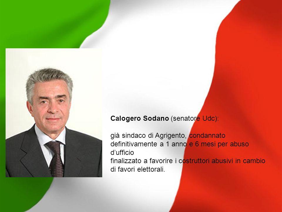 Calogero Sodano (senatore Udc):
