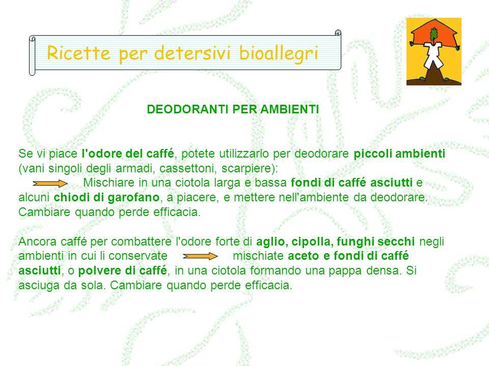 Ricette per detersivi bioallegri
