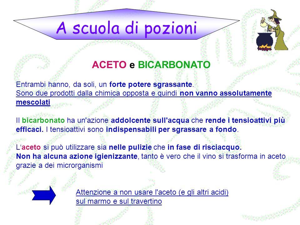 A scuola di pozioni ACETO e BICARBONATO