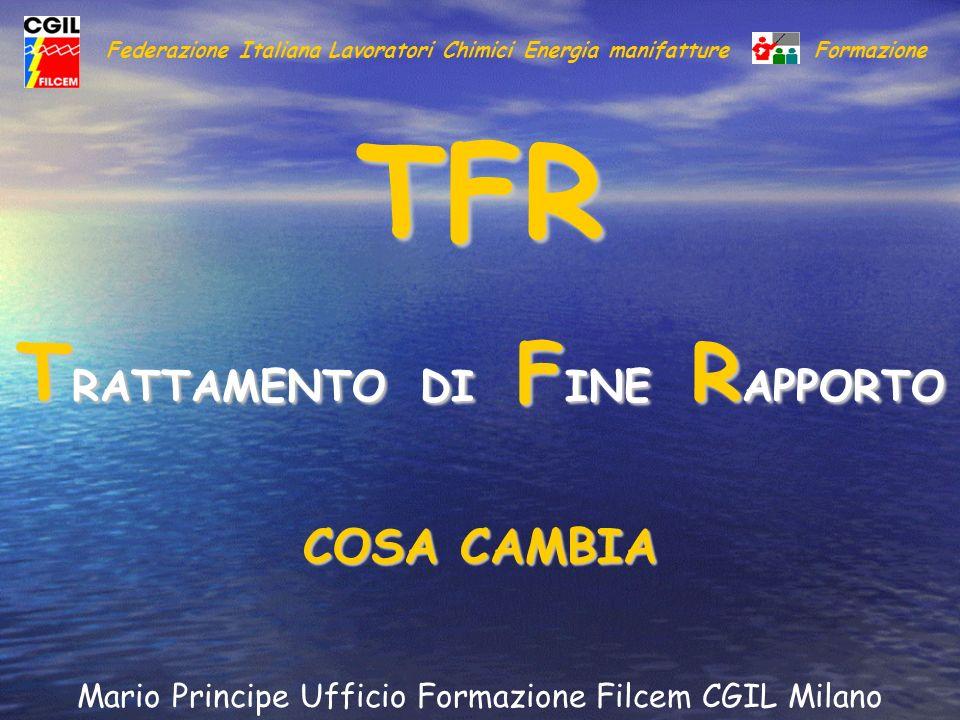 TFR TRATTAMENTO DI FINE RAPPORTO COSA CAMBIA