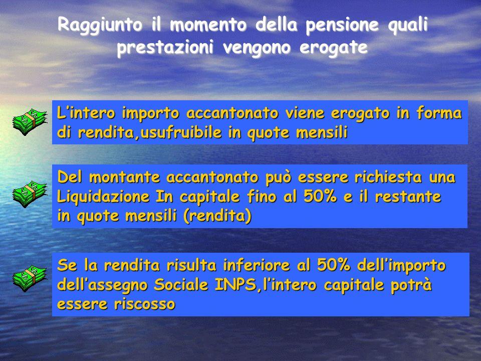 Raggiunto il momento della pensione quali prestazioni vengono erogate