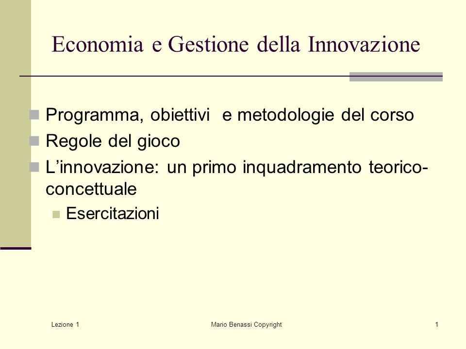 Economia e Gestione della Innovazione