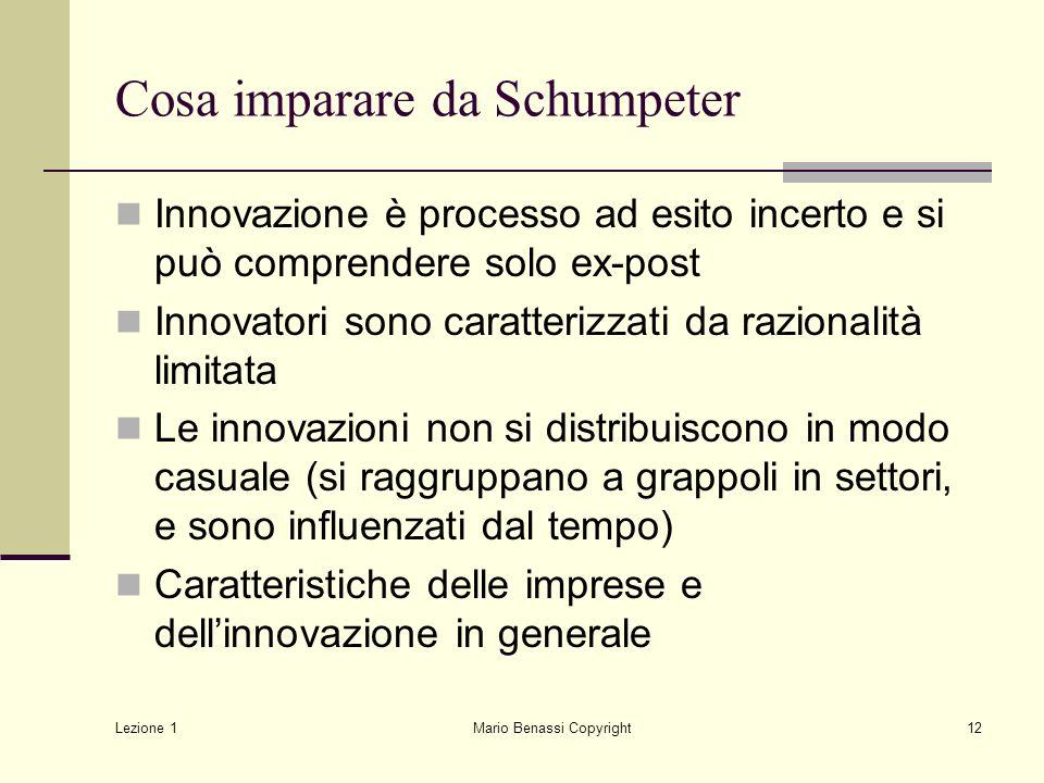 Cosa imparare da Schumpeter