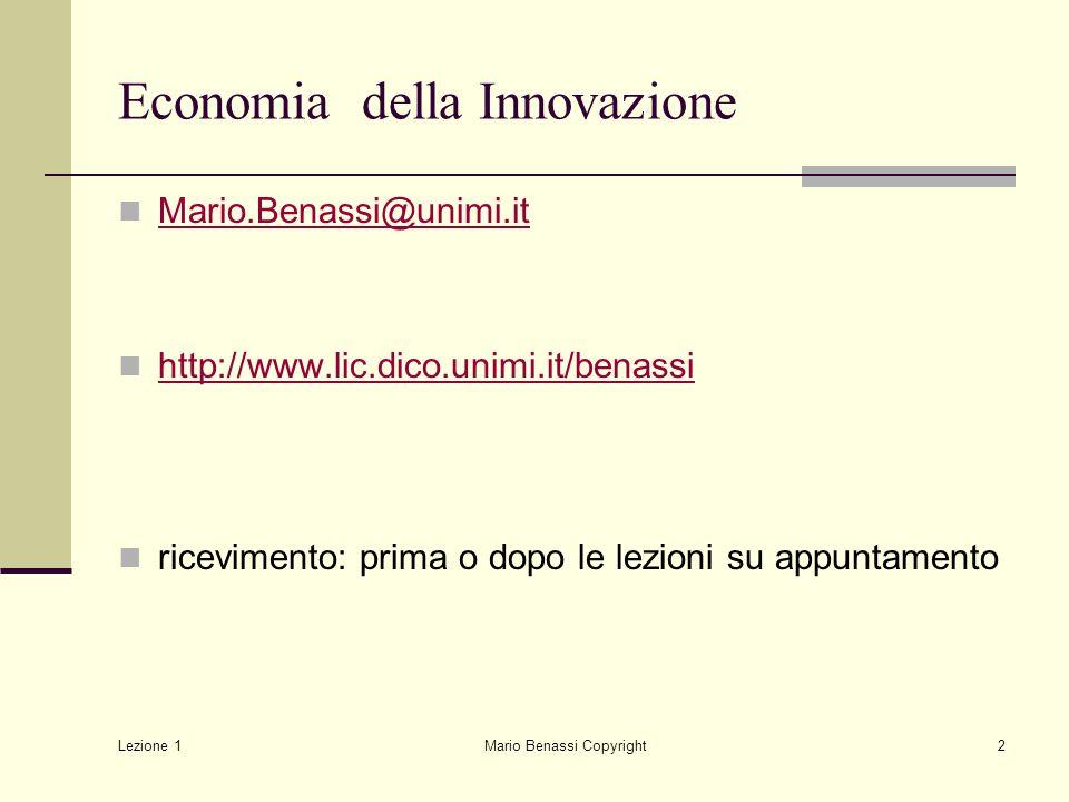 Economia della Innovazione
