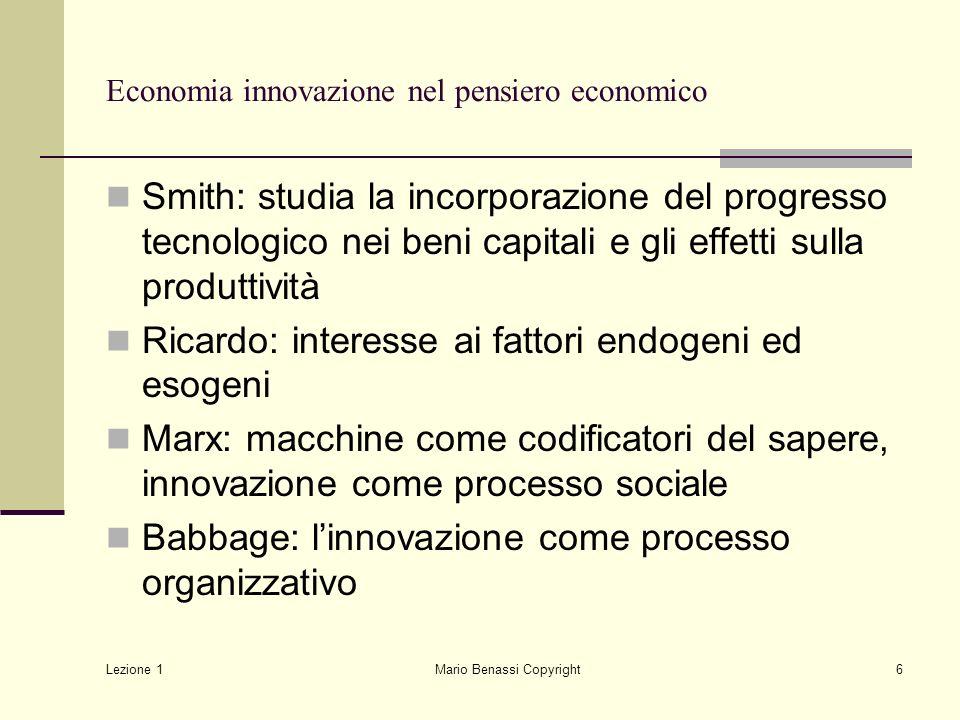 Economia innovazione nel pensiero economico