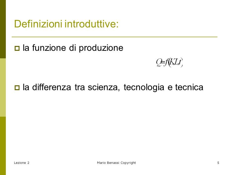 Definizioni introduttive:
