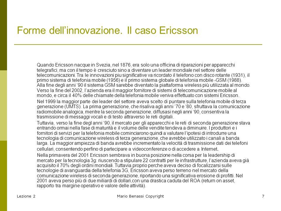 Forme dell'innovazione. Il caso Ericsson