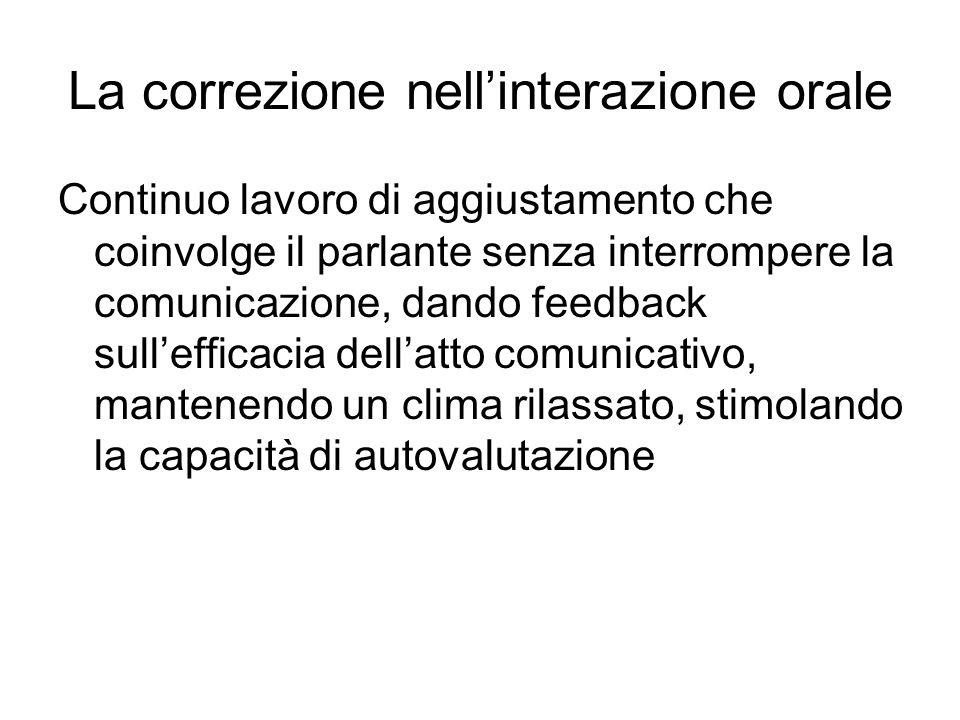 La correzione nell'interazione orale