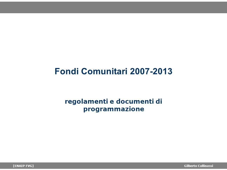regolamenti e documenti di programmazione