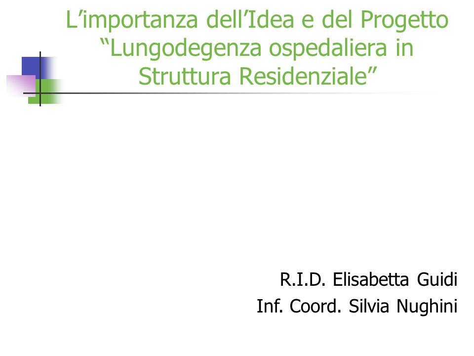 L'importanza dell'Idea e del Progetto Lungodegenza ospedaliera in Struttura Residenziale